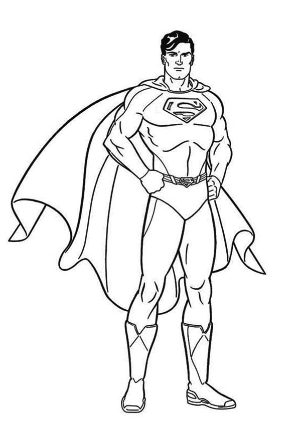 It's just an image of Critical Superman Coloring Pages Printable