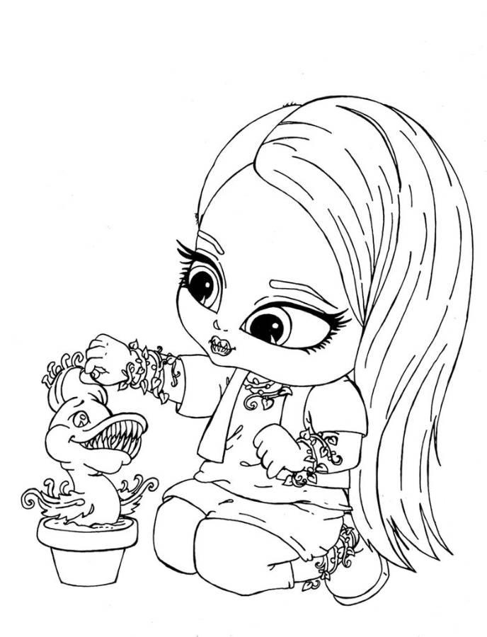 Chibi Monster High Coloring Pages Download And Print For Free