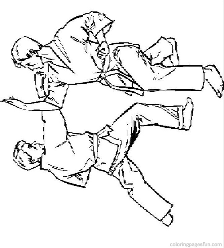 free karate coloring pages - photo#9