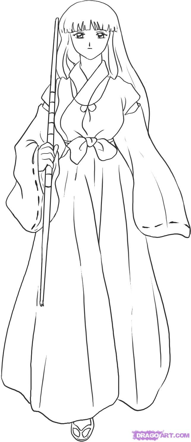 Kikyo coloring pages download and print for free Adult Coloring Pages Anime Girls Superhero Body Coloring Pages Male Anime Coloring Pages
