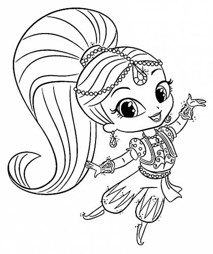 Adaptable image with shimmer and shine printable coloring pages