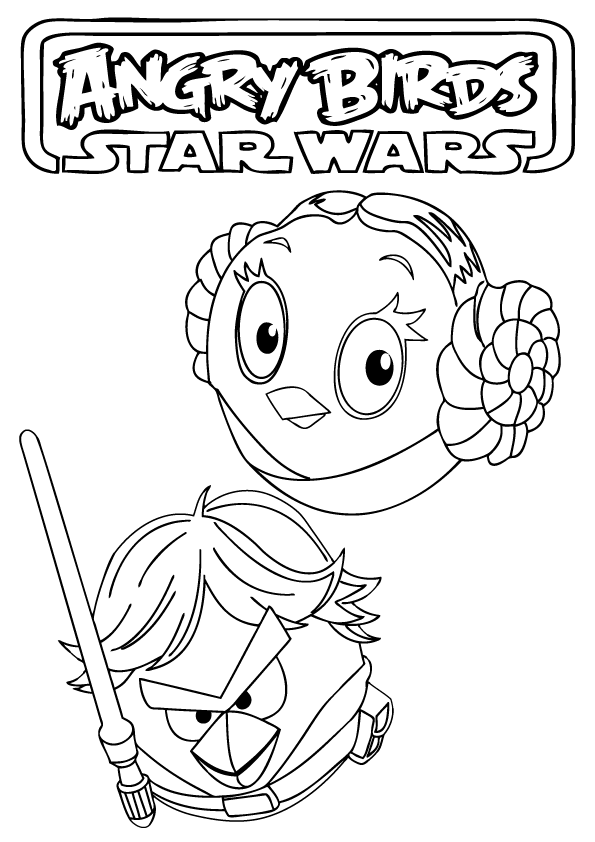 Angry Birds Star Wars coloring pages to download and print for free