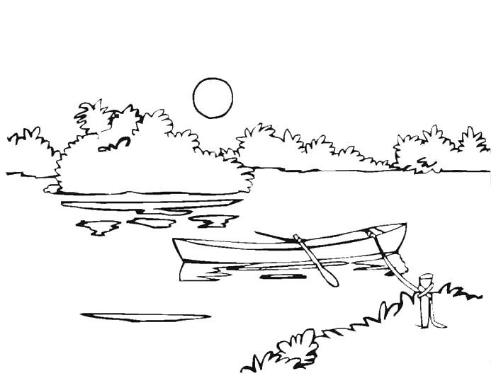 River coloring pages to download