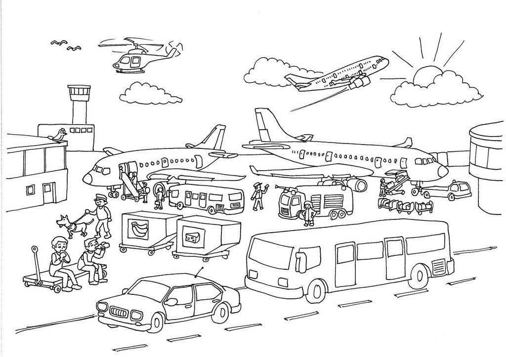 airport maps coloring pages | Airport coloring pages to download and print for free