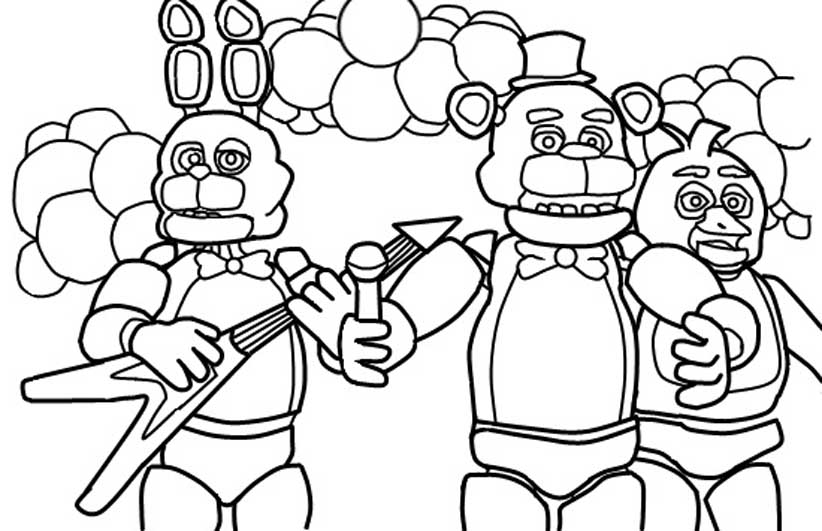 Five Nights At Freddy S Coloring Pages To Download And
