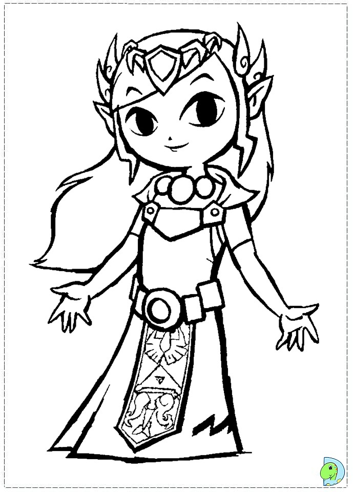 Zelda coloring pages to download