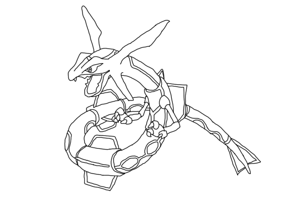 Rayquaza coloring pages download and print for free