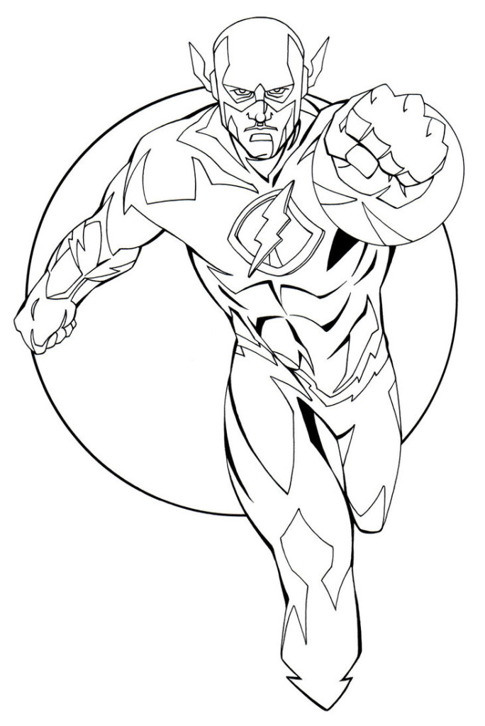 dc flash coloring pages - photo#4