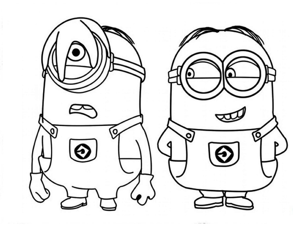 Despicable me coloring pages download