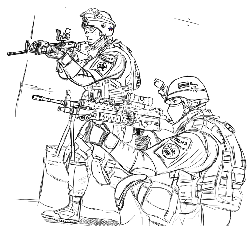 Soldier coloring pages to download and print for free