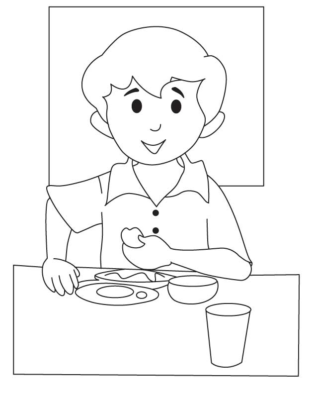 Breakfast Coloring Pages Download And Print For Free Breakfast Coloring Page