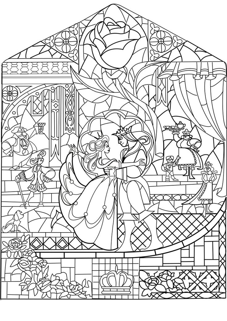 free stained glass coloring pages - medieval stained glass coloring pages download and print
