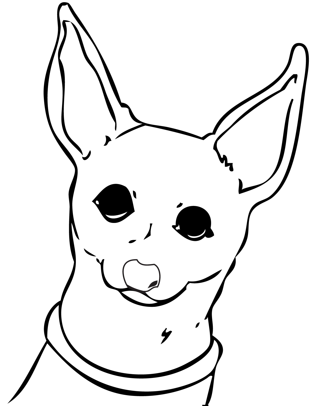 Chihuahua dog coloring pages download