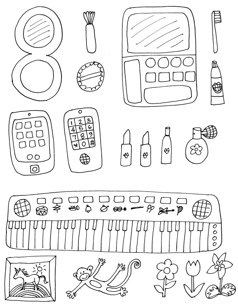 Spa Themed Coloring Pages
