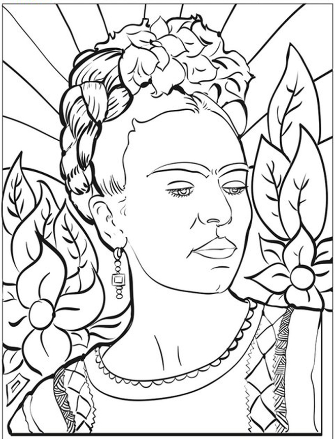 Frida kahlo coloring pages download