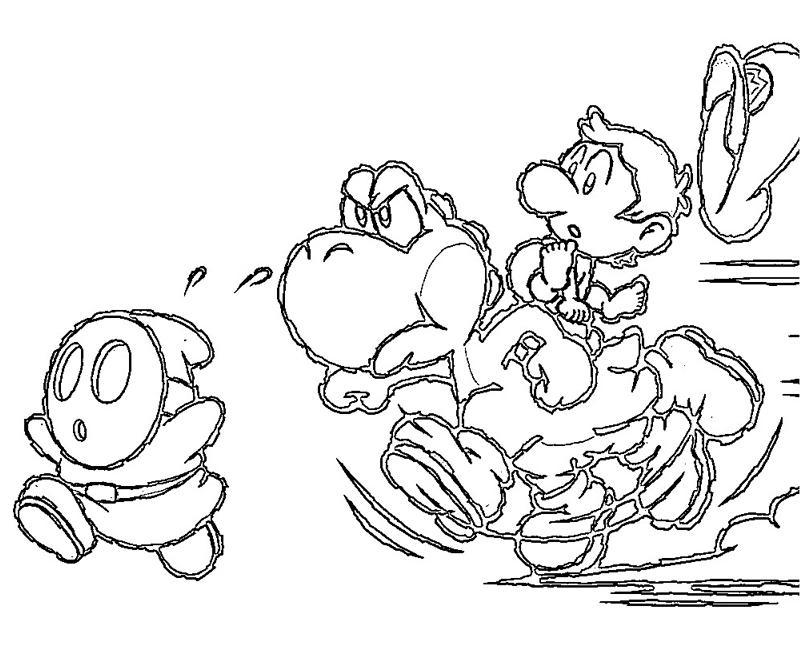 Yoshi Island Coloring Pages Download And Print For Free