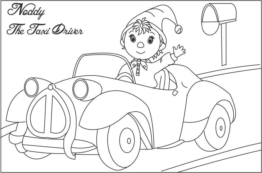 noddy coloring pages - photo#11