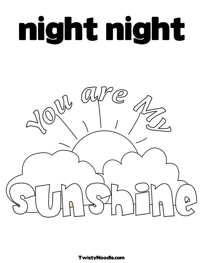 free night coloring pages - photo#24
