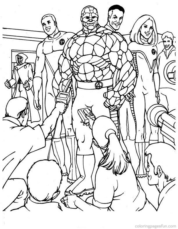 Fantastic 4 coloring pages download and print for free