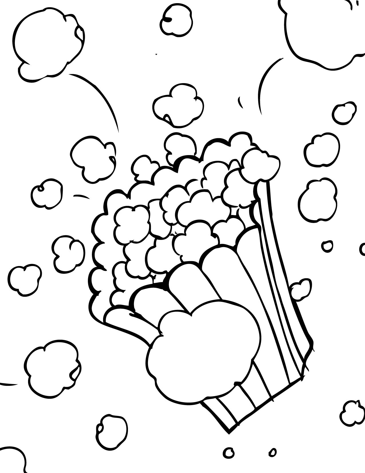 popcorn coloring pages to download and print for free