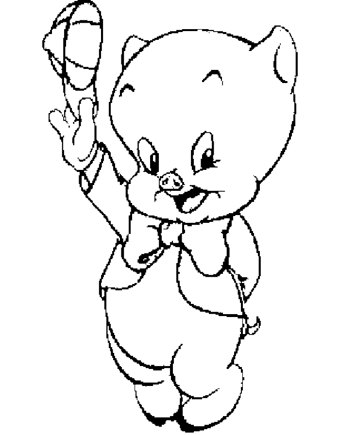 porky pig coloring pages - photo#8