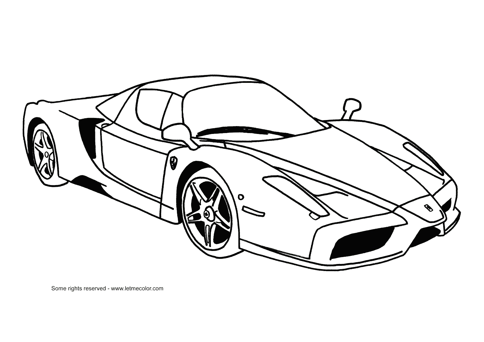 Ferrari coloring pages to download
