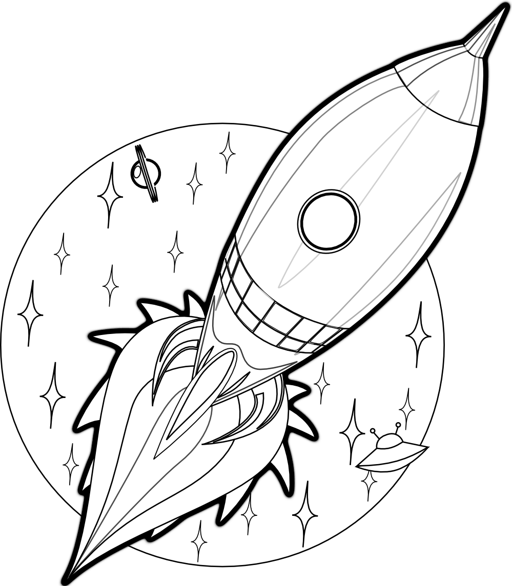 spaceship coloring pages forcoloringpagescom printable rocket