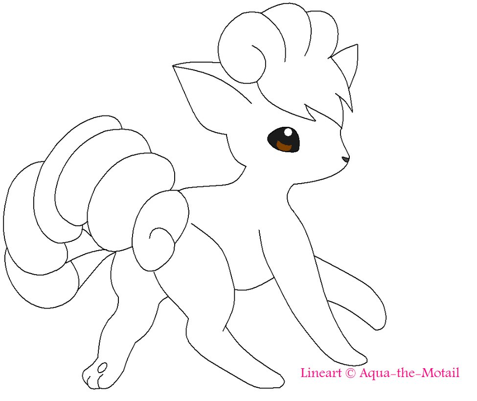 Vulpix coloring pages download and print for free for Online free draw