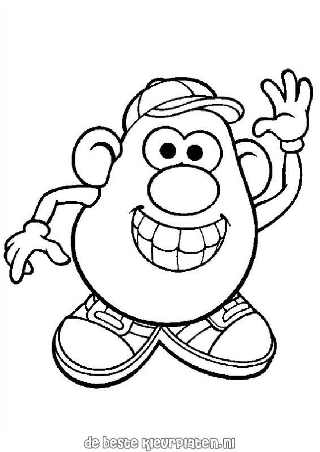 Mr Potato Head Coloring Page Magnificent Mr Potato Head Coloring Pages To Download And Print For Free Design Inspiration