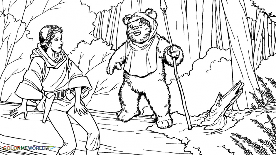 Star Wars Ewok Coloring Pages Coloring Home Coloring Coloring Pages