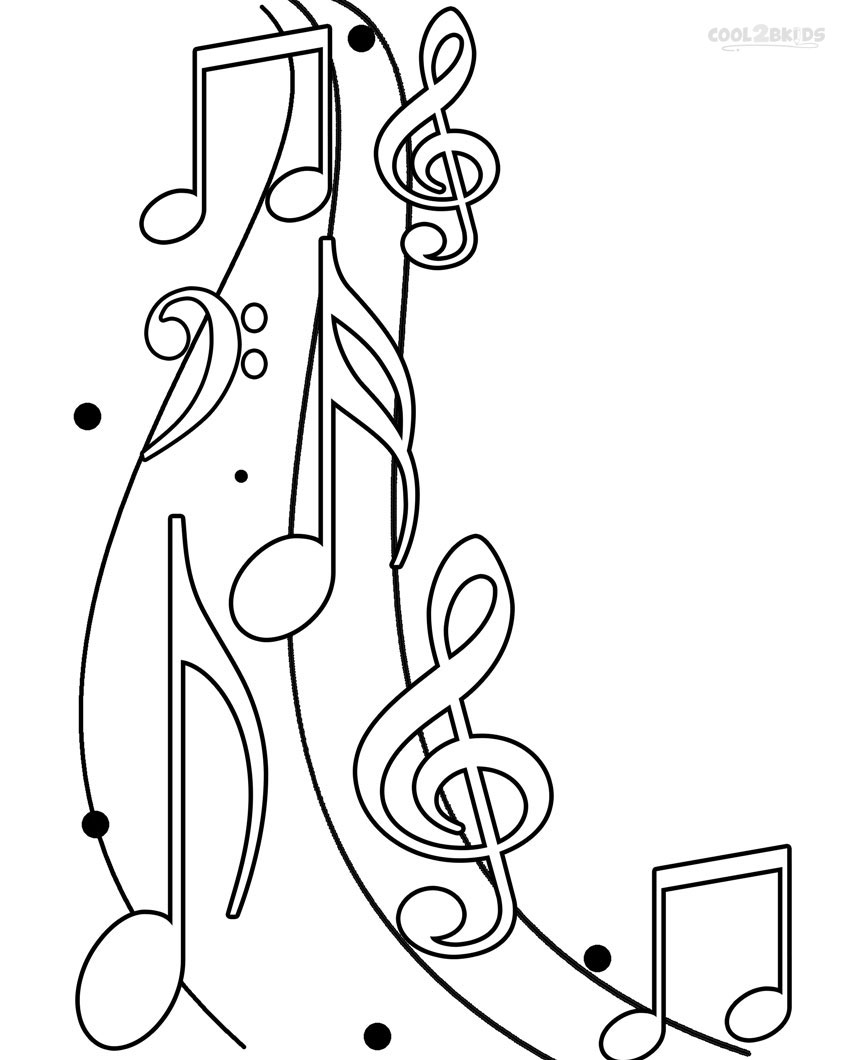 Music note coloring pages to download