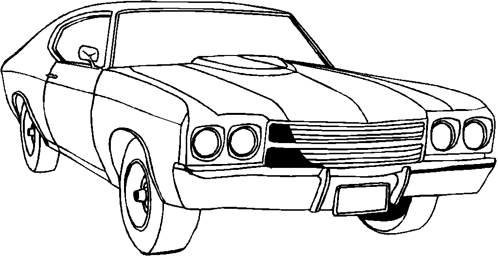 muscle car coloring pages printable - photo#4