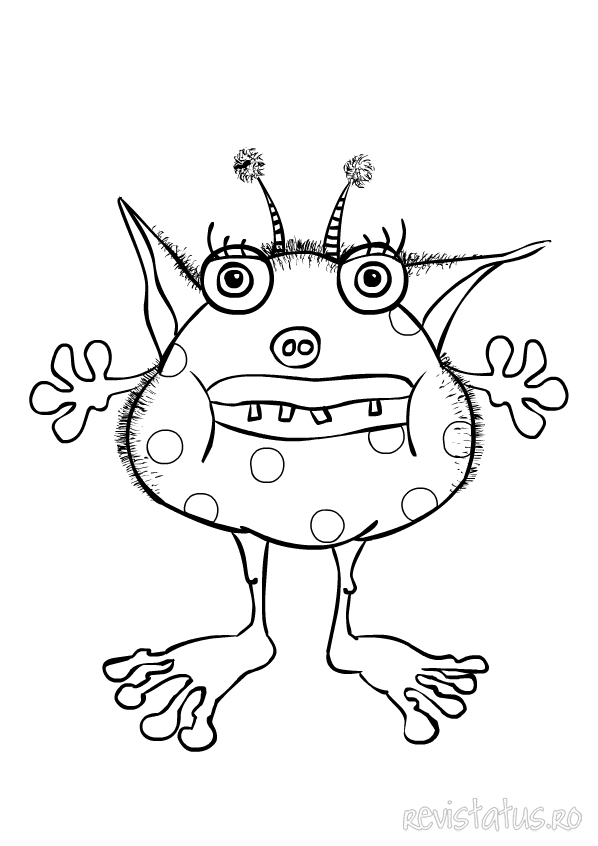 monster coloring pages - Monster Pictures For Kids To Print