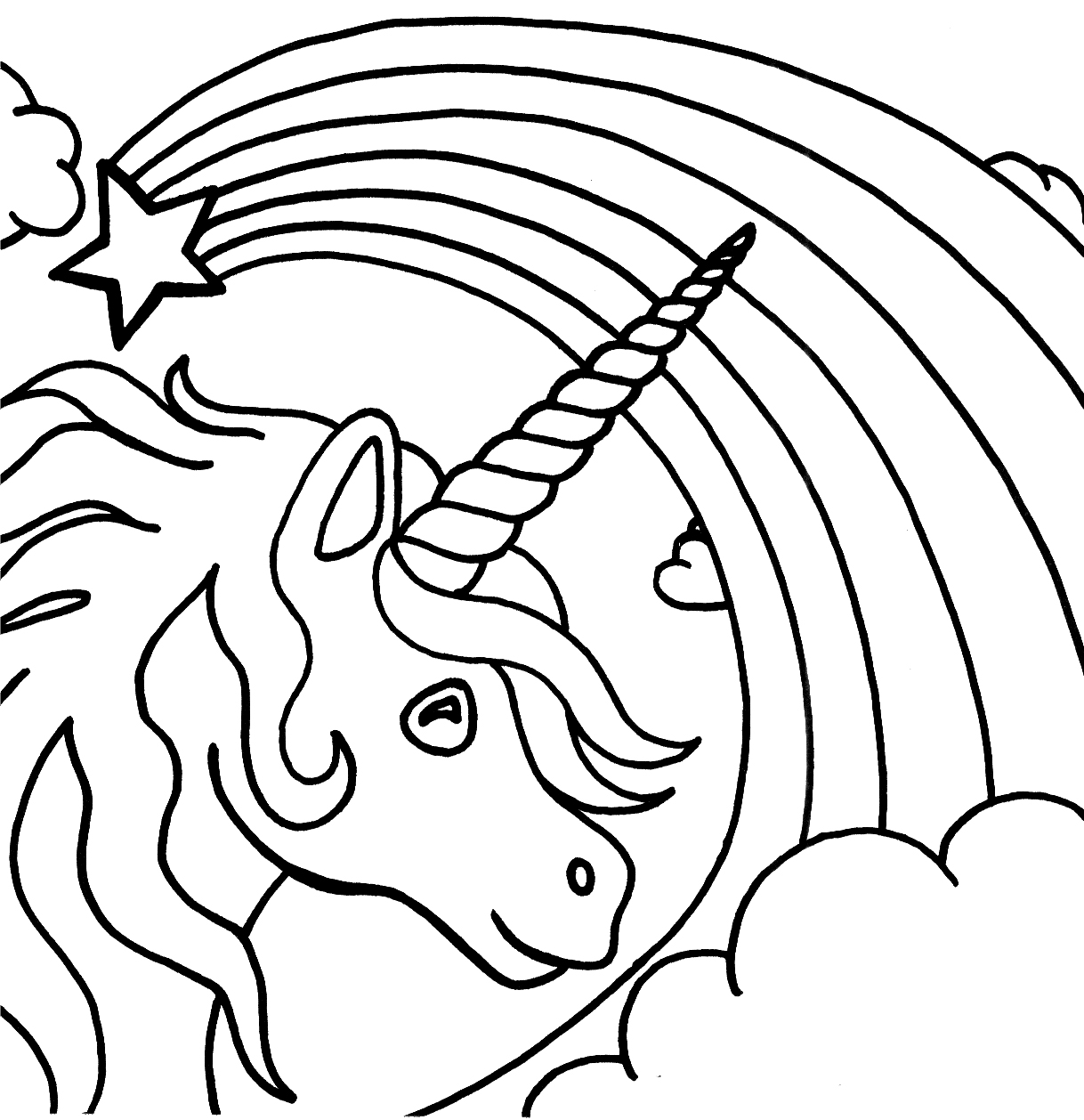 Best Website For Free Coloring Pages : Unicorn coloring pages to download and print for free