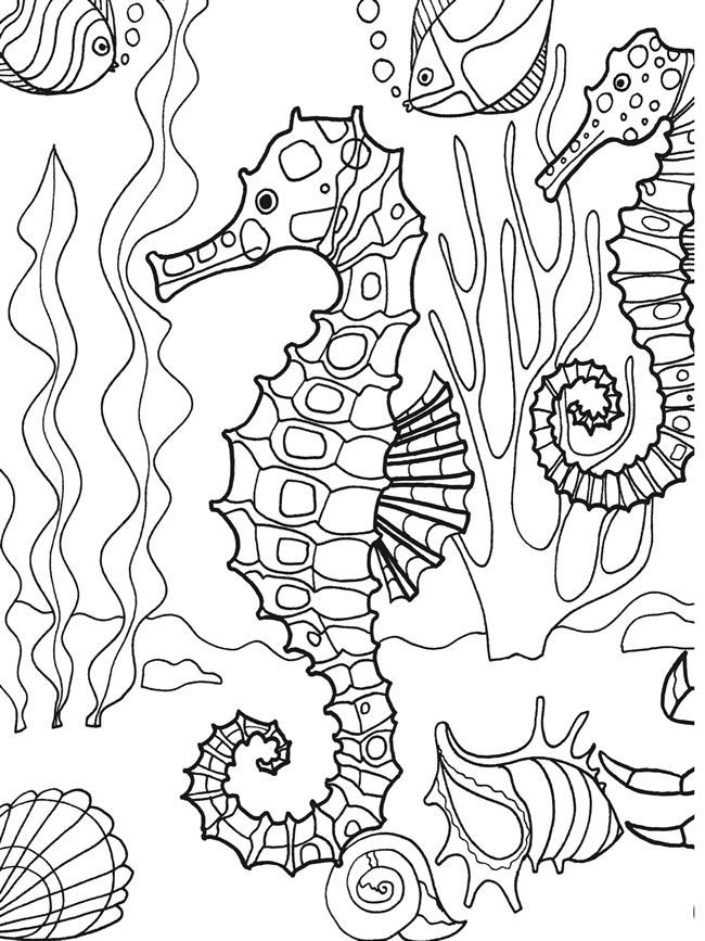 Under the sea coloring pages to download and print for free