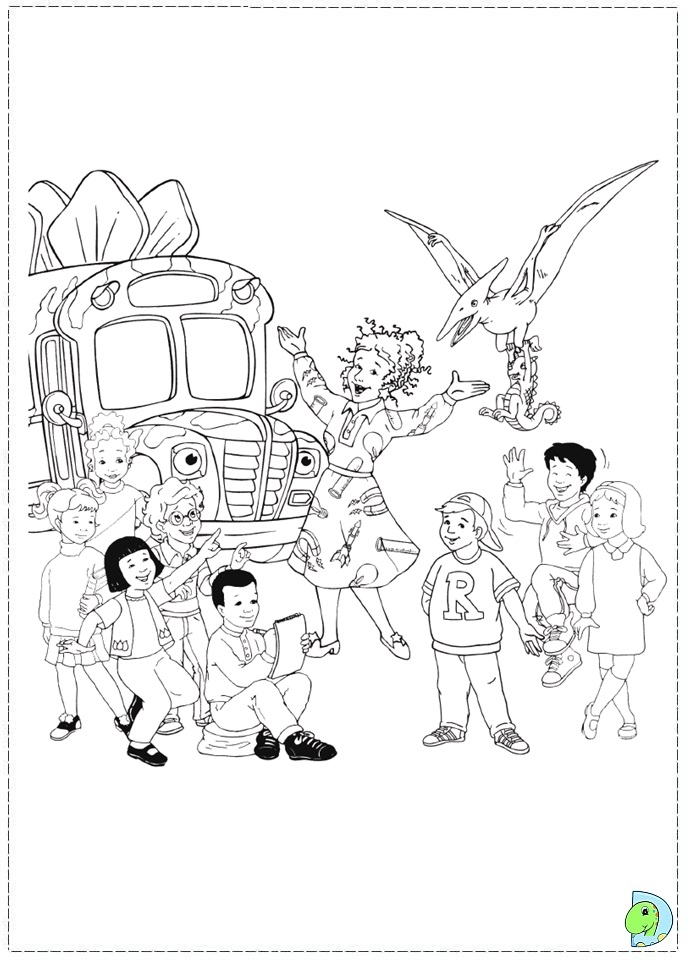 Magic School Bus Coloring Pages To And Print For Free