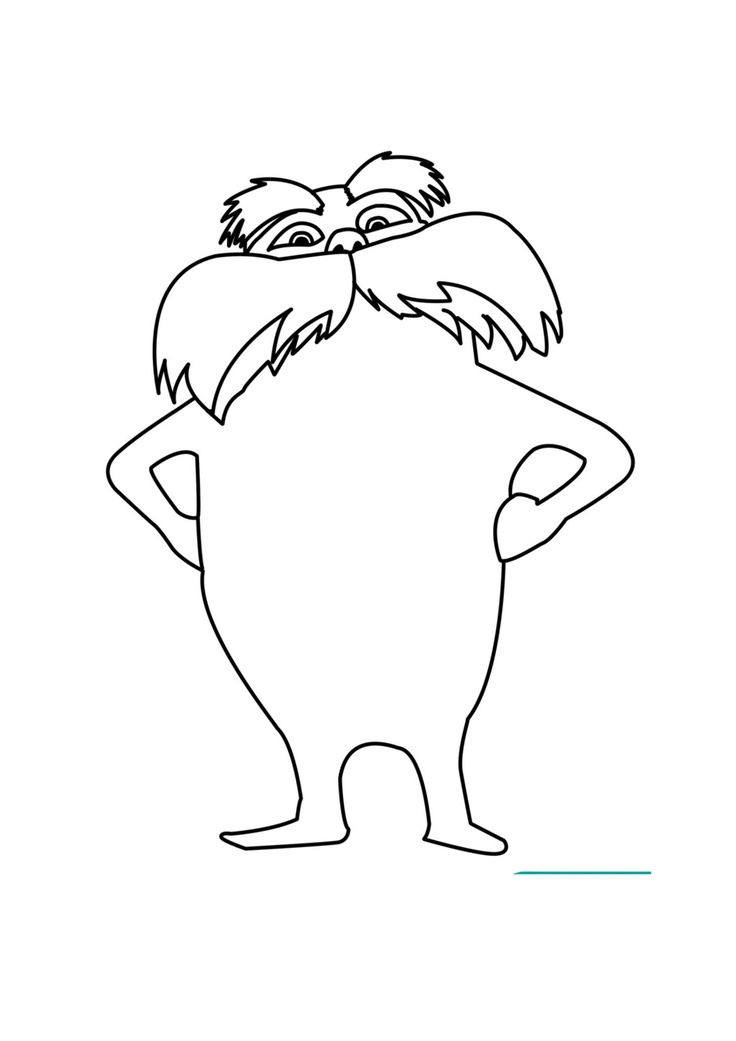 It's just a photo of Tactueux Lorax Coloring Page