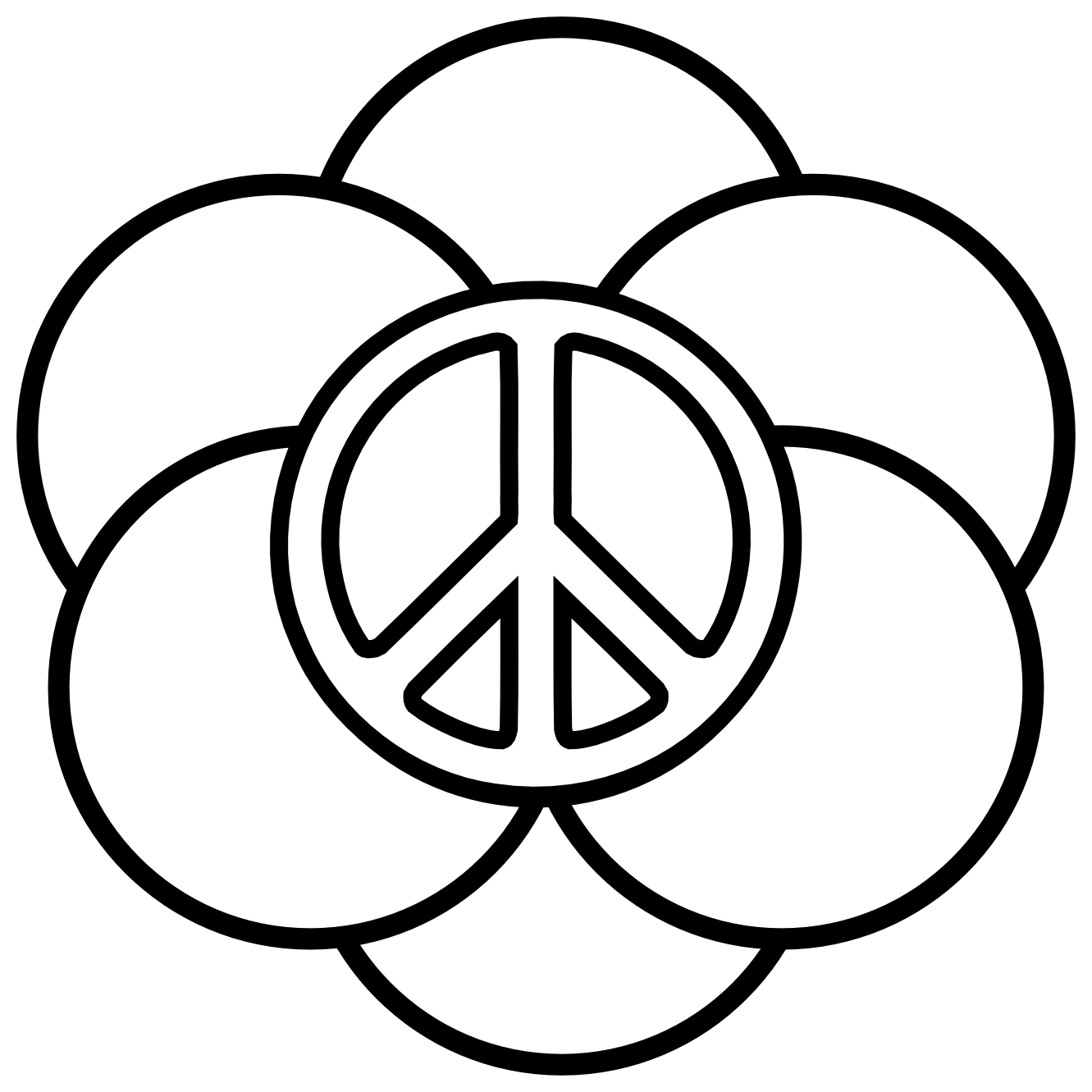 peace logo coloring pages - photo#7