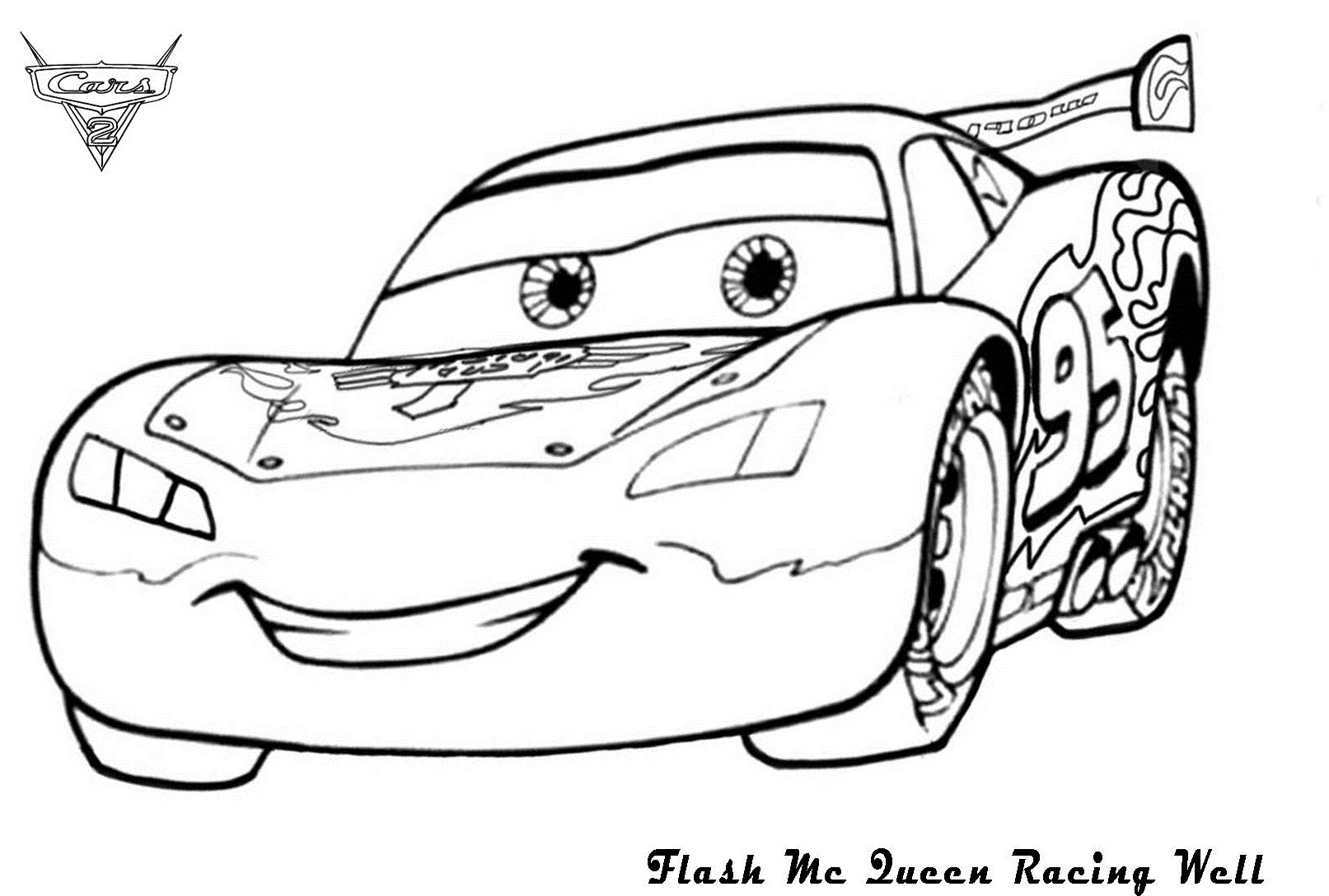Lightning mcqueen coloring pages to download and print for