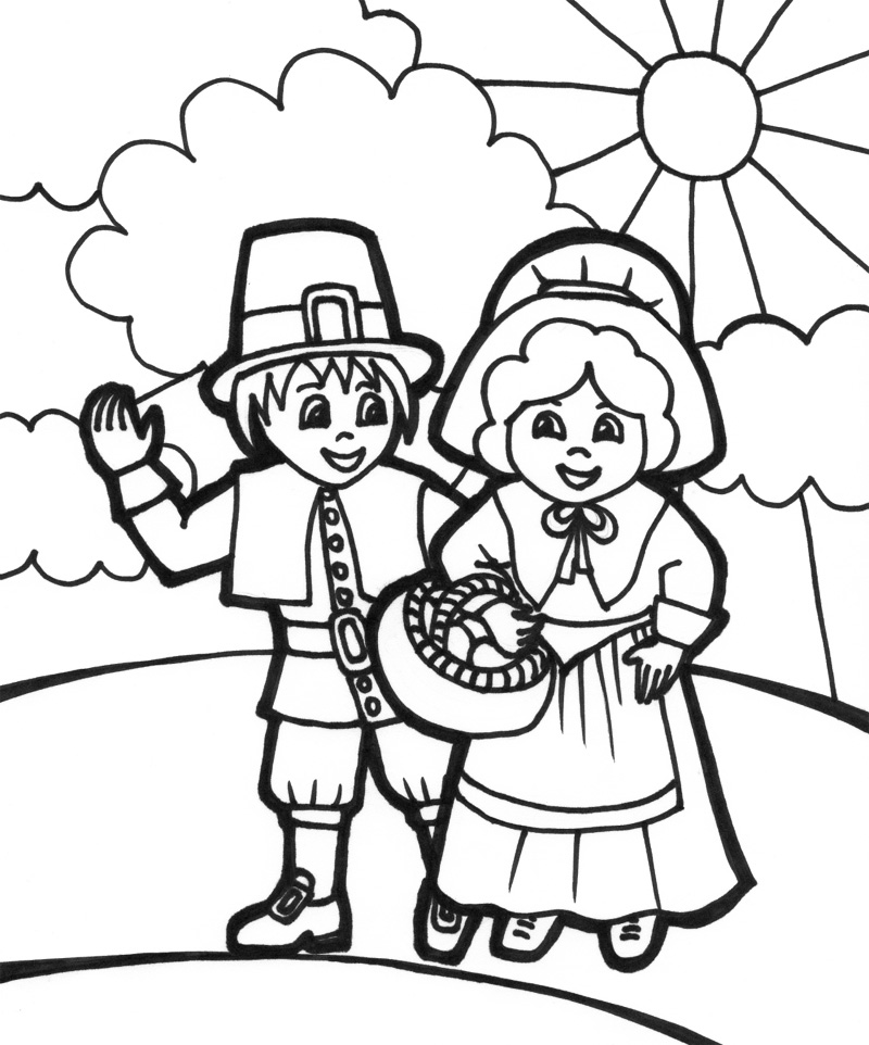 coloring pages for pilgrims - photo#9