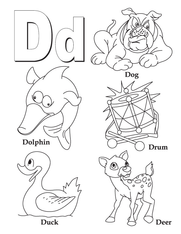 Kindergarten Coloring Pages Letters