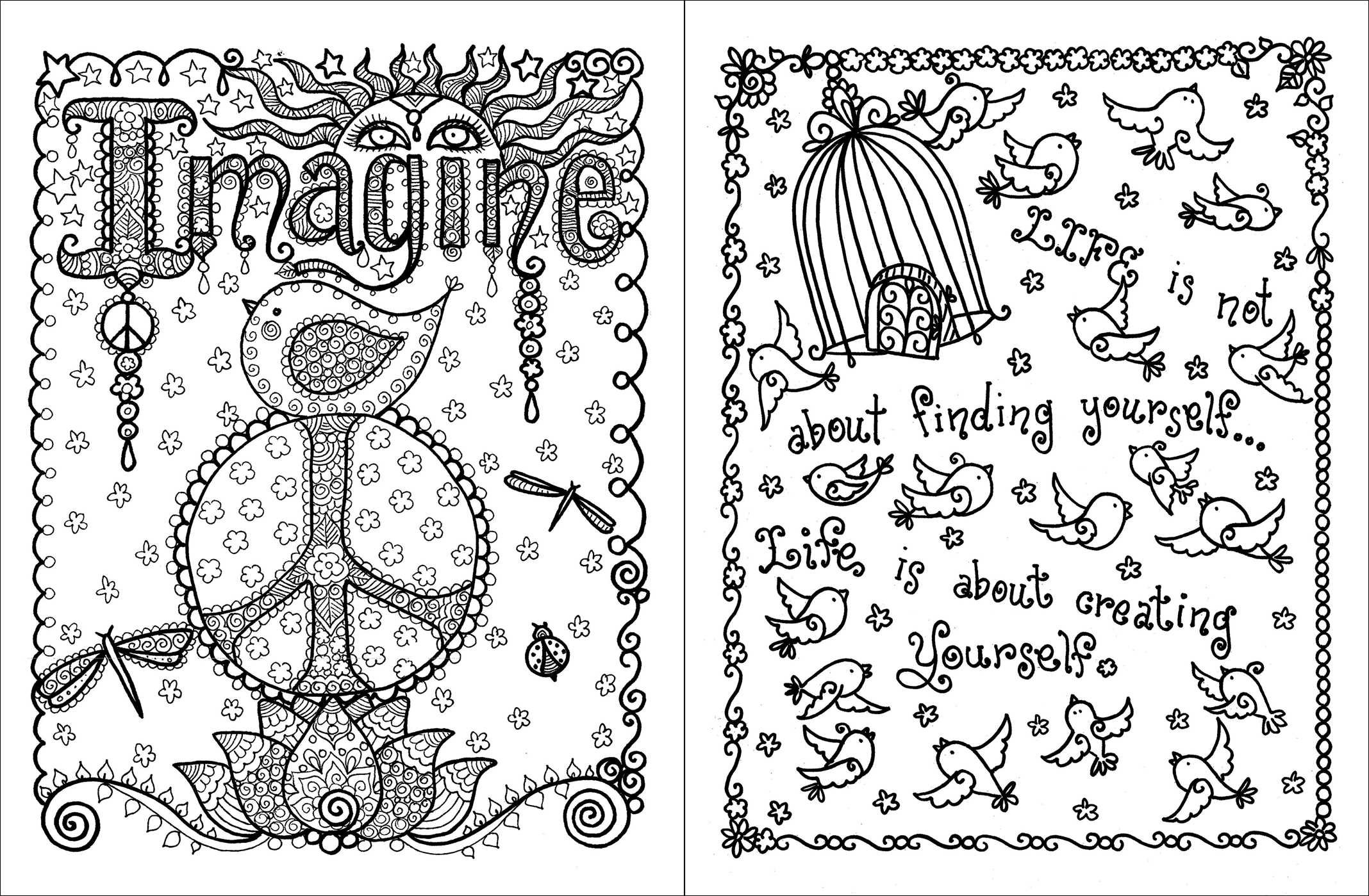 Coloring pages with quotes for adults