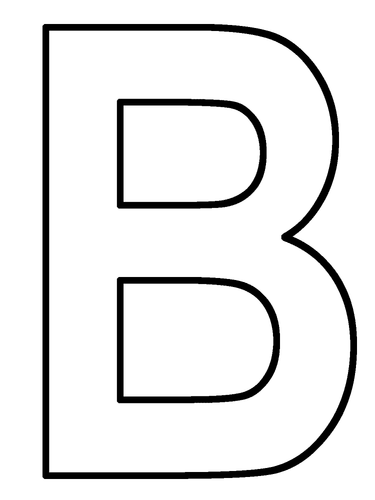 Letter b coloring pages to download