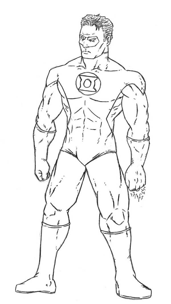 Green lantern coloring pages to download and print for free for Green lantern coloring page