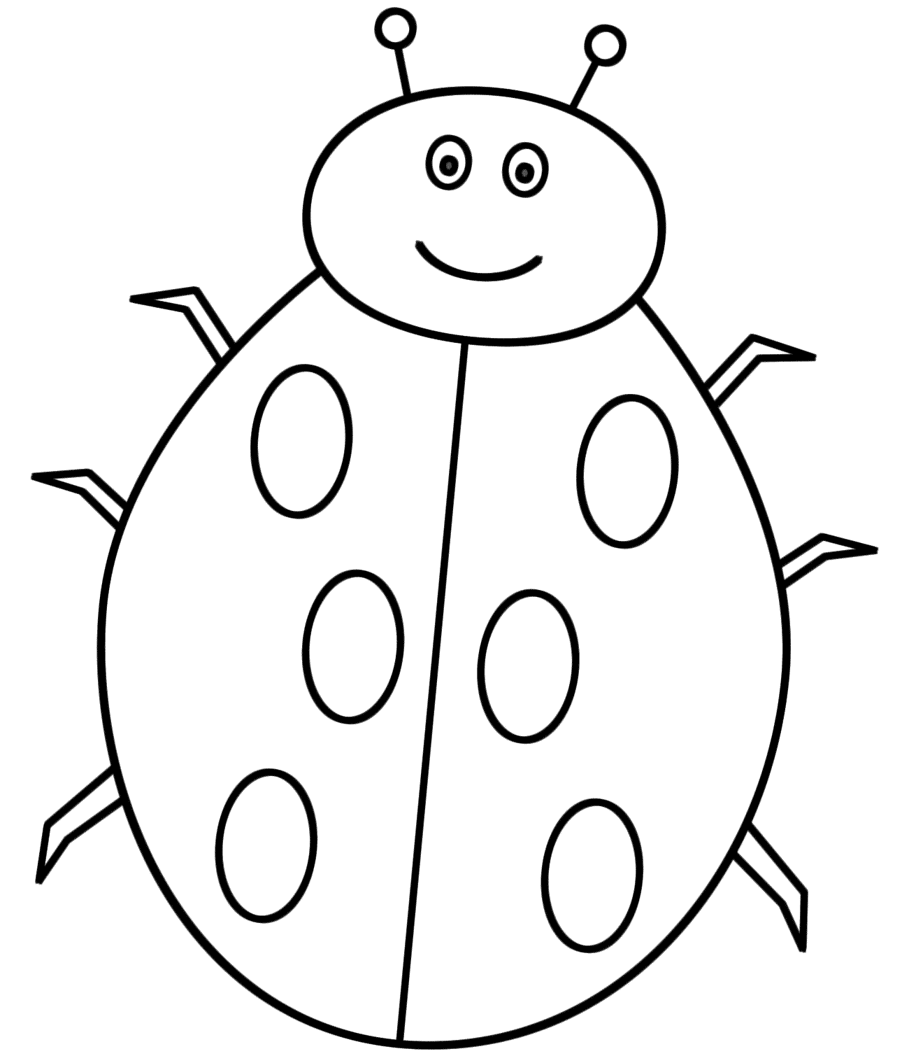 Animal Coloring Book Free Download : Ladybug coloring pages to download and print for free