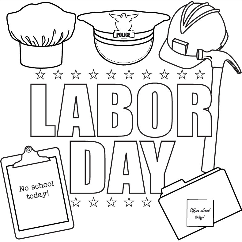 labor day coloring pages kids - Labor Day Coloring Pages Kids