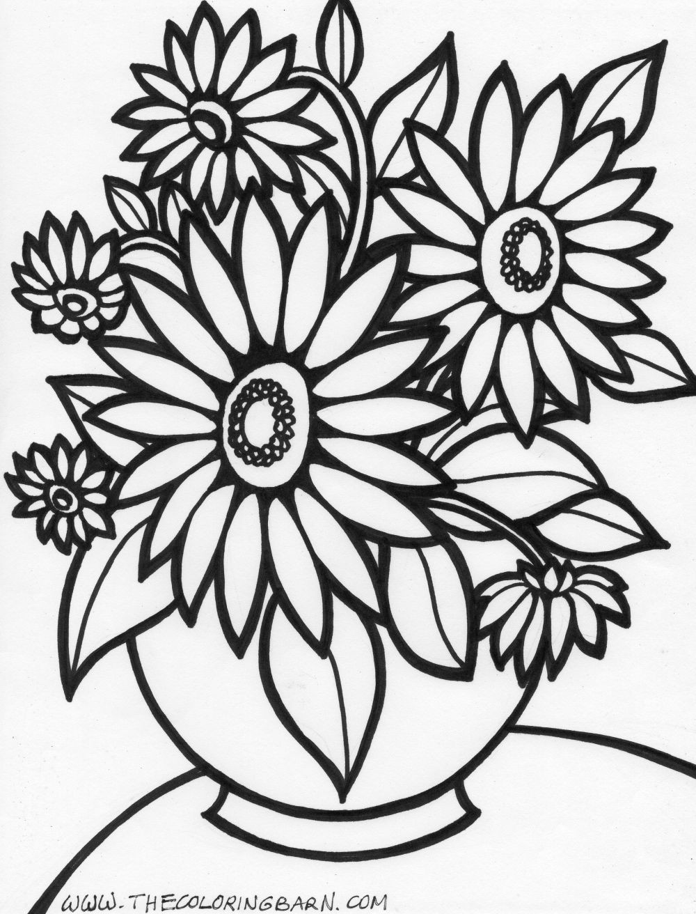 Floral coloring pages to download