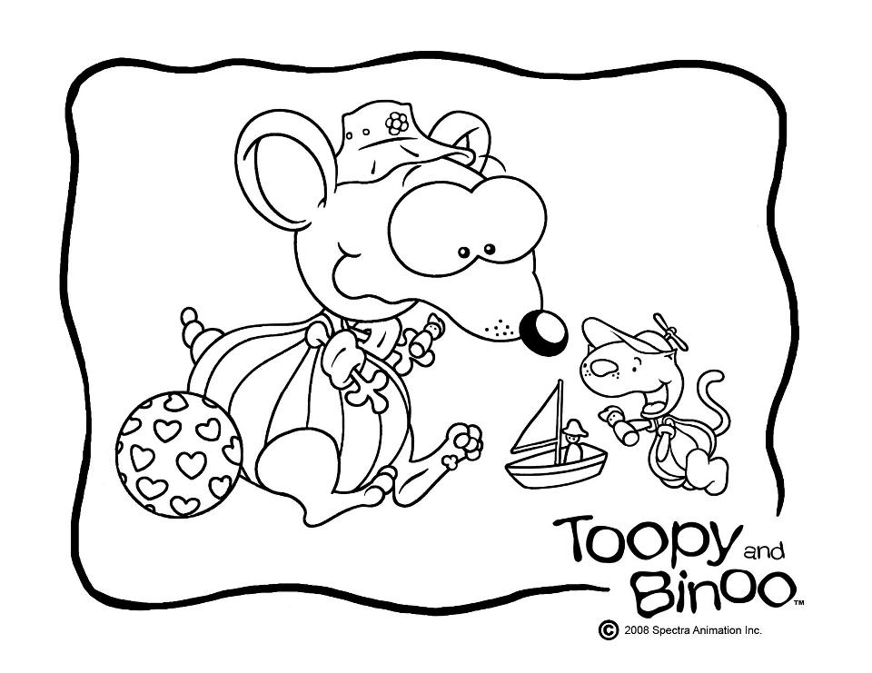 Toopy and binoo coloring pages to download and print for free - Dessin toupie ...