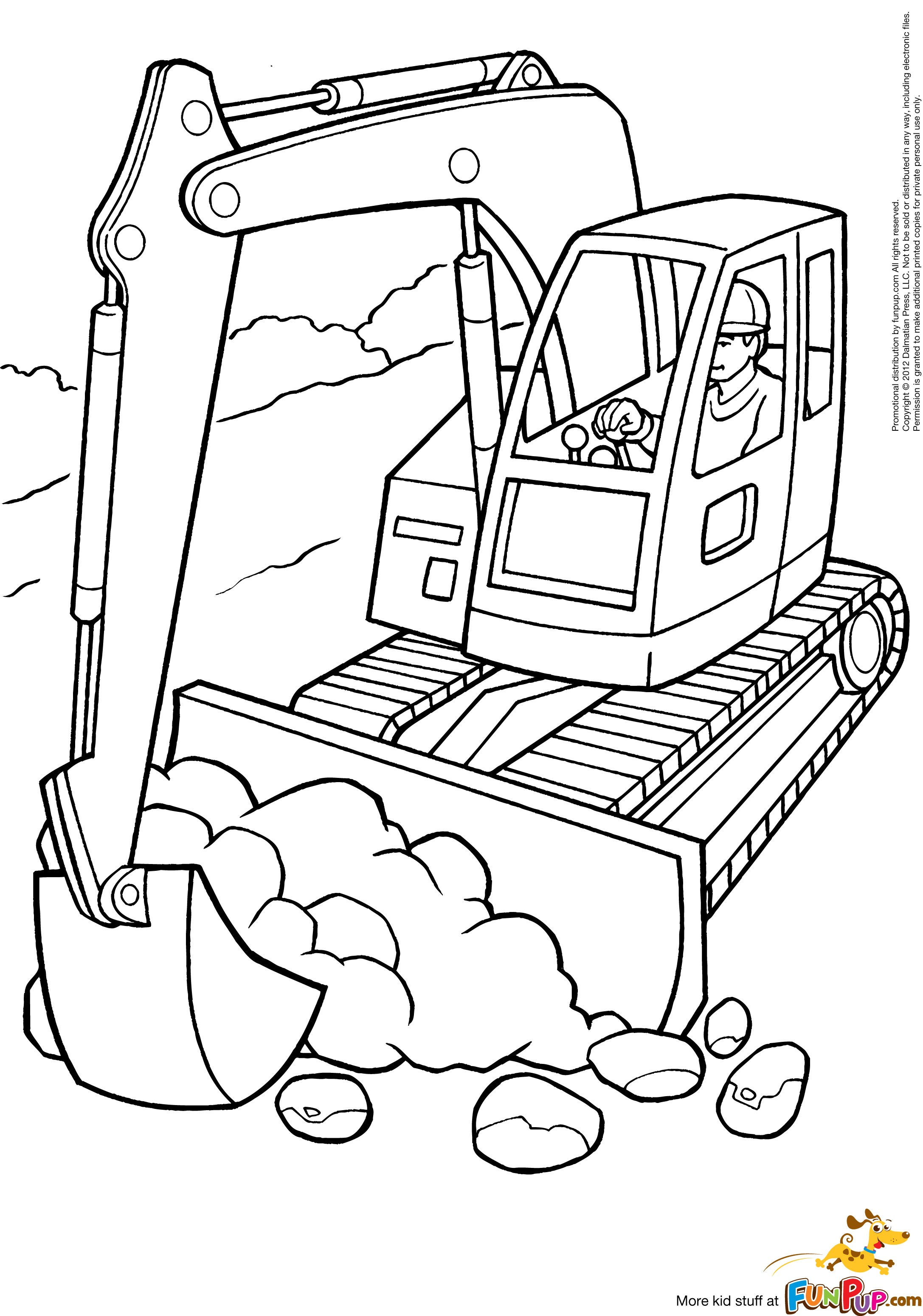 excavator coloring pages to print - photo#3