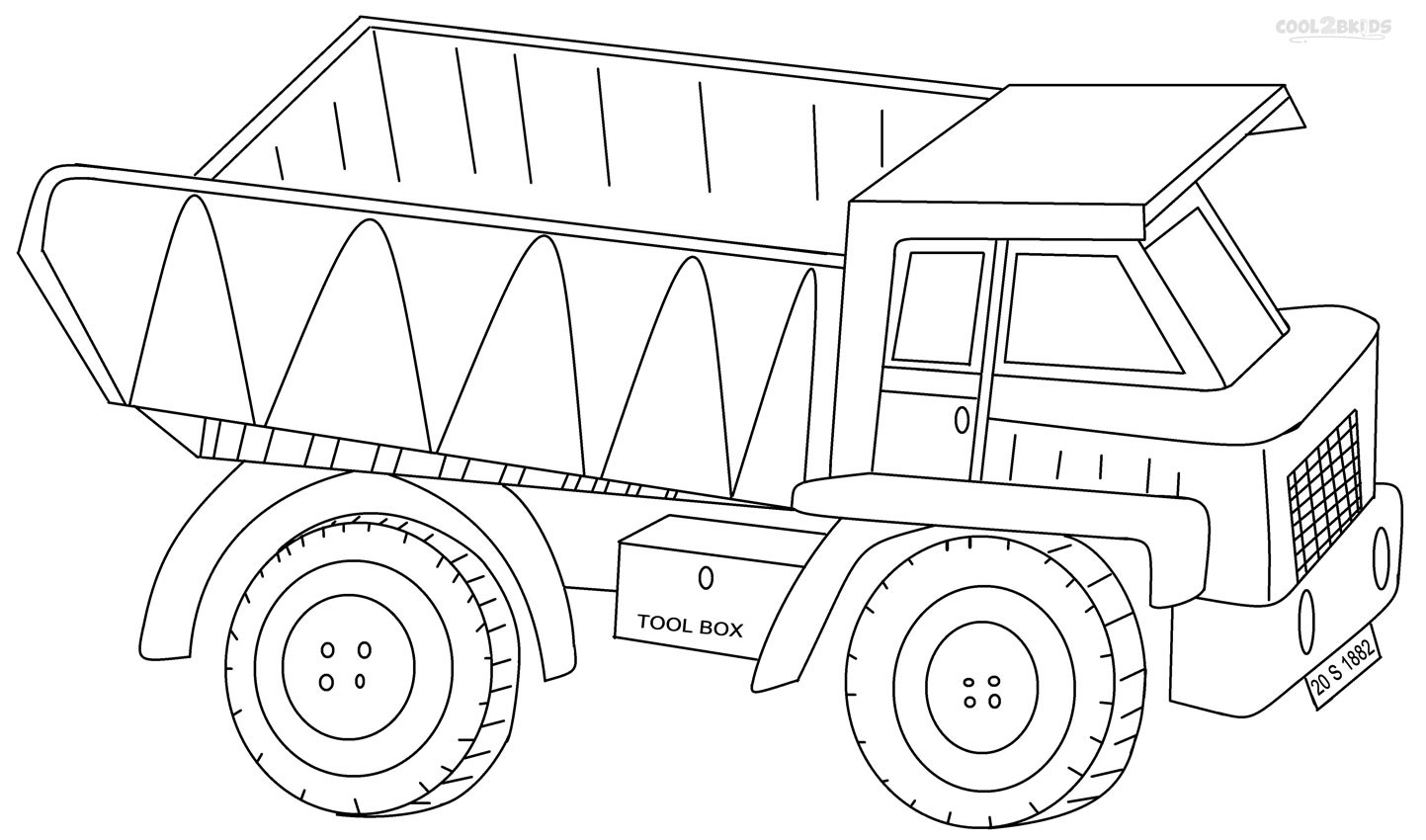 Dump truck coloring pages to download